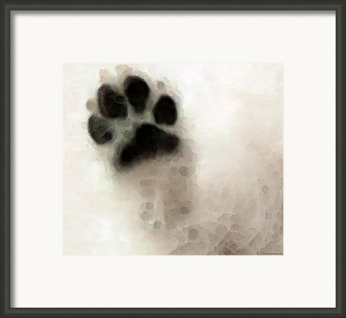 Dog Art - I Paw You Framed Print By Sharon Cummings