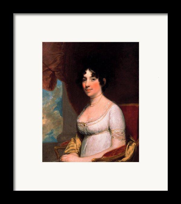 Dolley Payne Madison Framed Print By Gilbert Stuart
