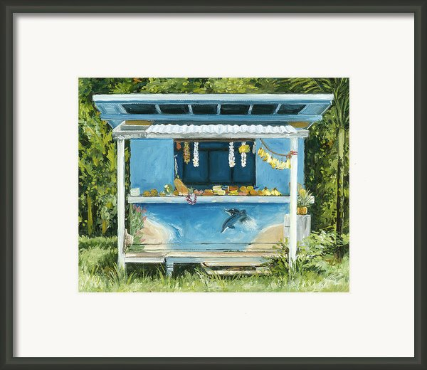 Dolphin Bar Framed Print By Stacy Vosberg