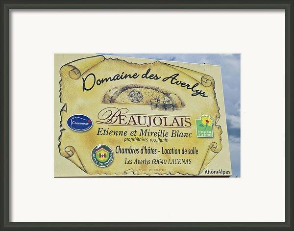 Domaine Des Averlys Framed Print By Allen Sheffield