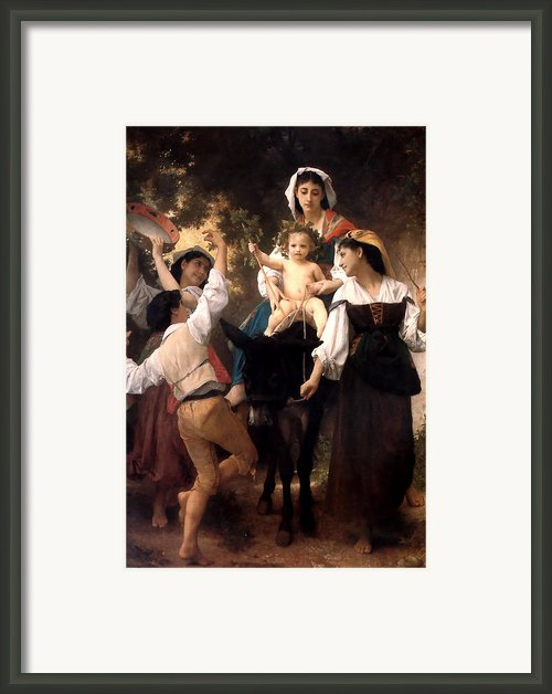 Donkey Ride Framed Print By William Bouguereau