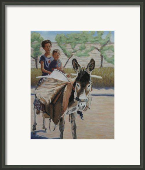 Donkey Riding Framed Print By Marion Derrett