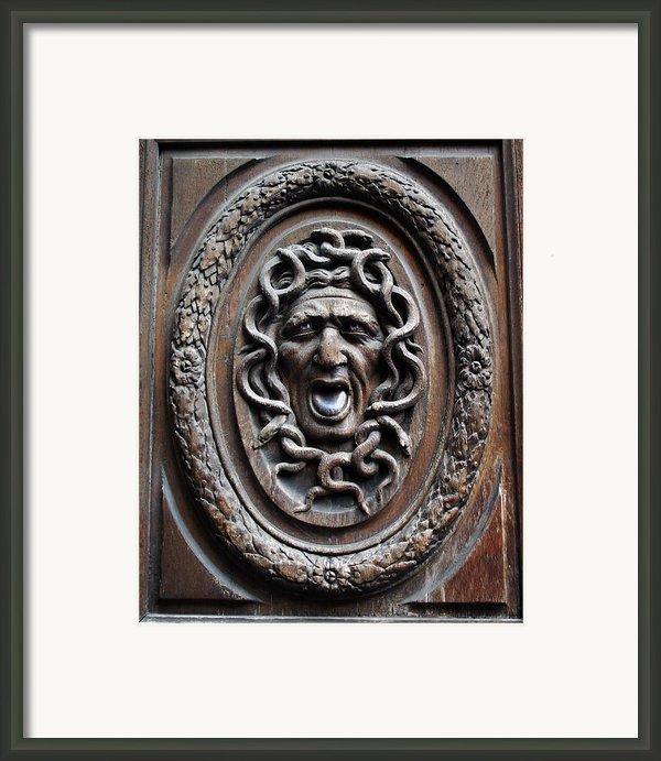 Door In Paris Medusa Framed Print By A Morddel