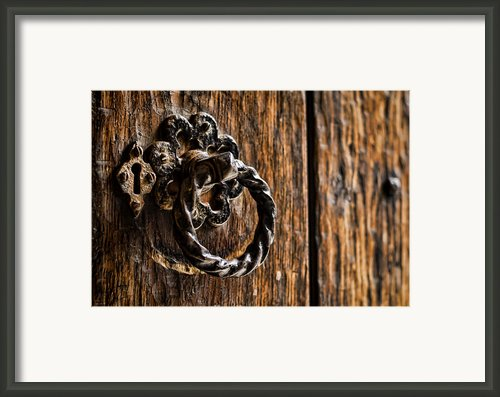 Door Knocker Framed Print By Heather Applegate