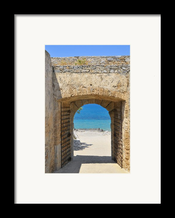 Door To Joy And Serenity - Beautiful Blue Water Is Waiting Framed Print By Matthias Hauser