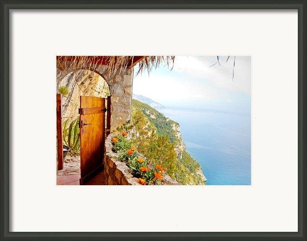 Door To Paradise Framed Print By Susan  Schmitz