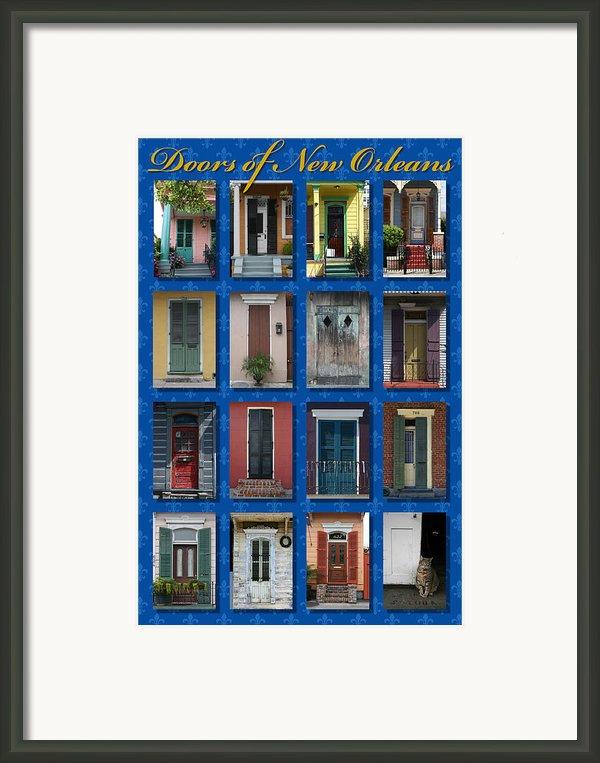 Doors Of New Orleans Framed Print By Heidi Hermes