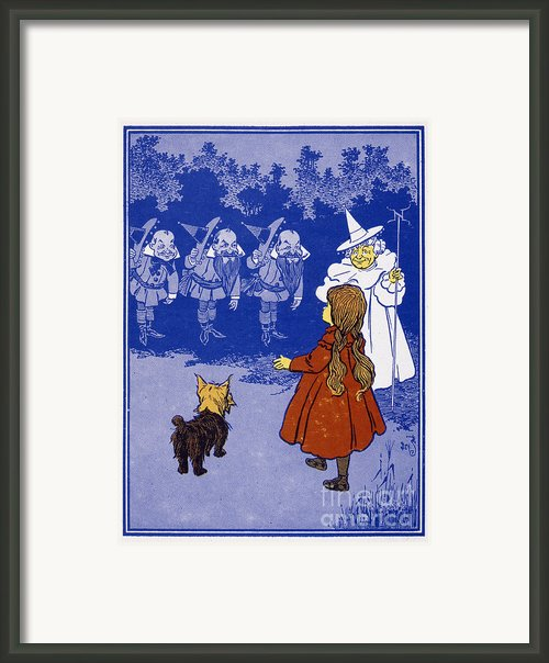 Dorothy And The Witch Framed Print By Granger