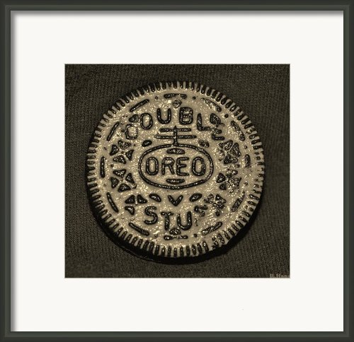 Double Stuff Oreo In Sepia Negitive Framed Print By Rob Hans