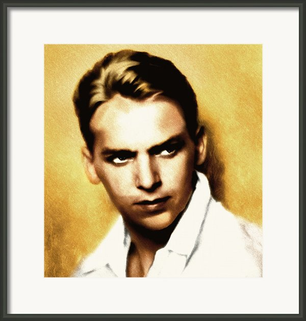 Douglas Fairbanks Jr Framed Print By Zeana Romanovna