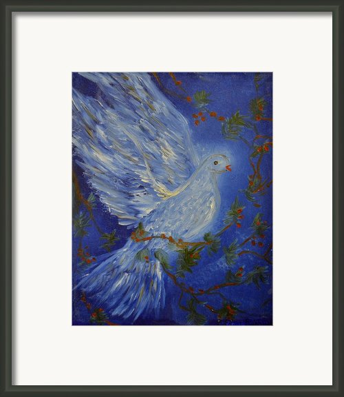 Dove Spirit Of Peace Framed Print By Louise Burkhardt
