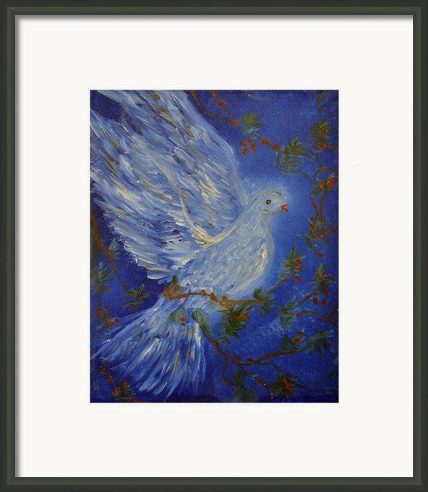 Dove Spirit Of Peace Framed Print By Louise Burkhardt