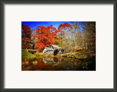 Down By The Old Mill Stream - Fine Art By Lynn Bauer Framed Print By Lynn Bauer