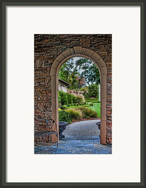 Down The Garden Path Framed Print By Lara Ellis