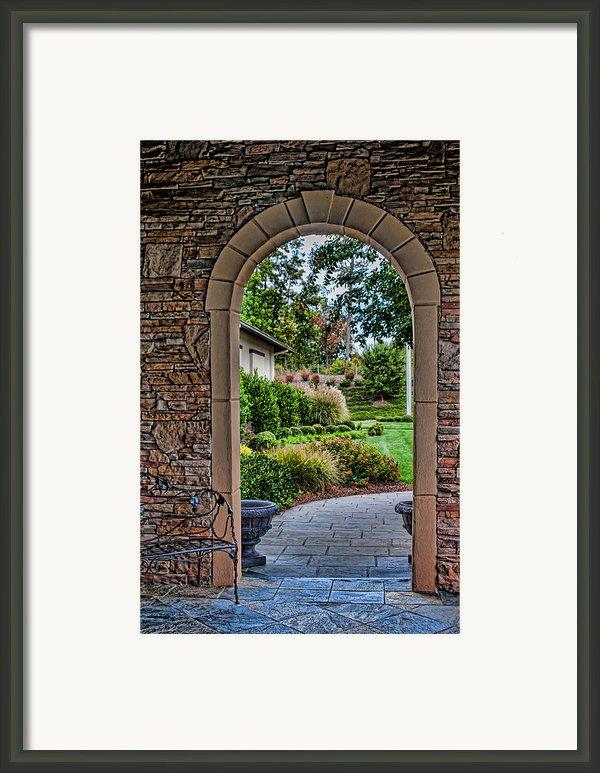 Down The Garden Path Framed Print By Lara Ellis