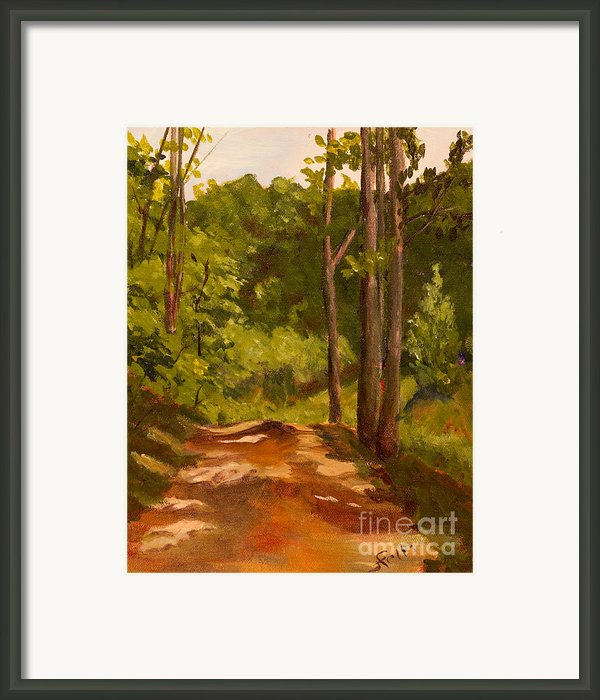 Down The Road Framed Print By Janet Felts