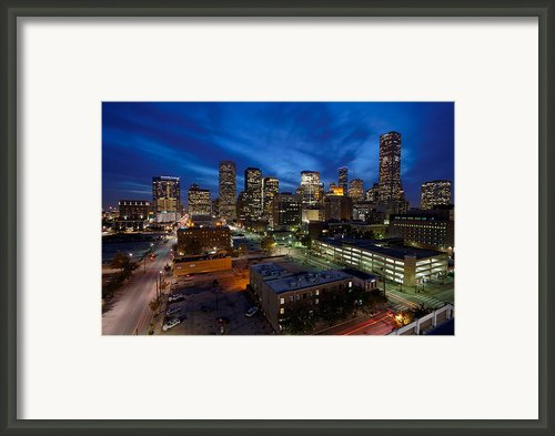 Downtown Houston From The Harris County Parking Garage Framed Print By Silvio Ligutti