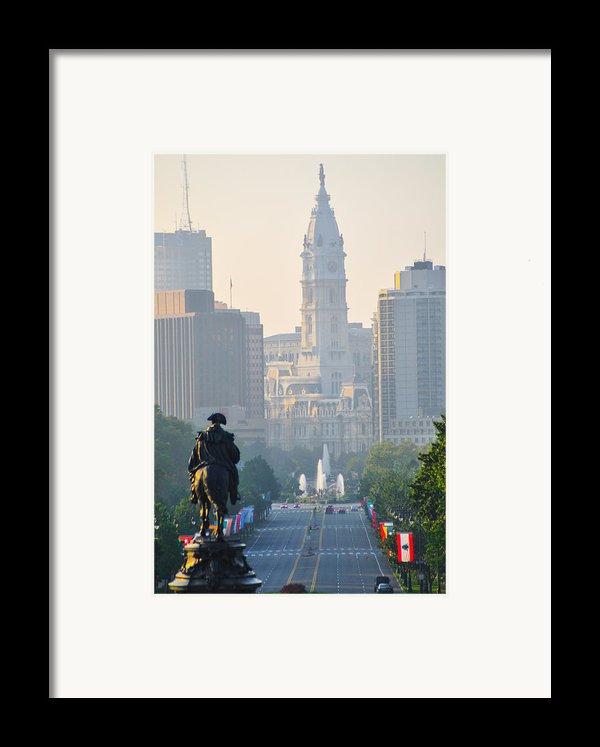 Downtown Philadelphia - Benjamin Franklin Parkway Framed Print By Bill Cannon