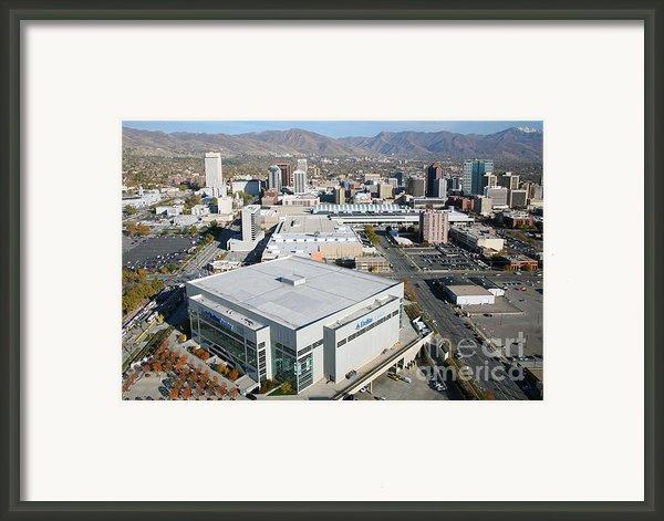 Downtown Salt Lake City Framed Print By Bill Cobb