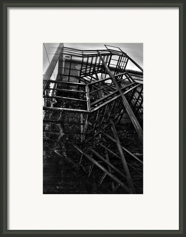 Downtown Stairs Framed Print By Kenal Louis