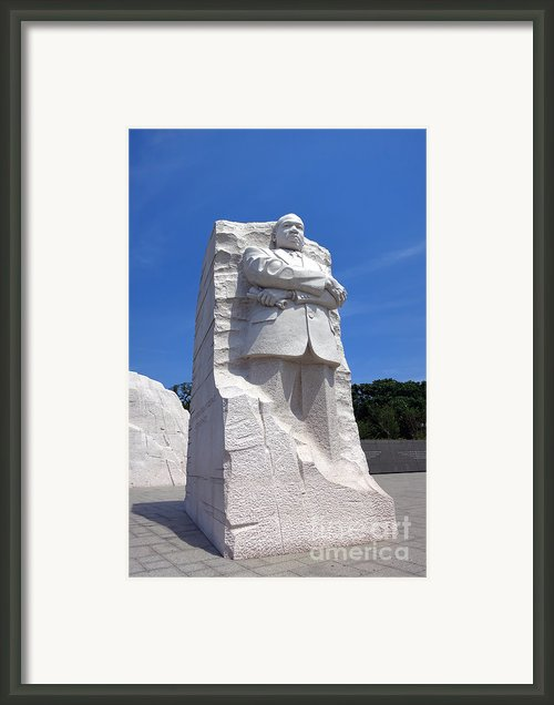 Dr Martin Luther King Memorial Framed Print By Olivier Le Queinec