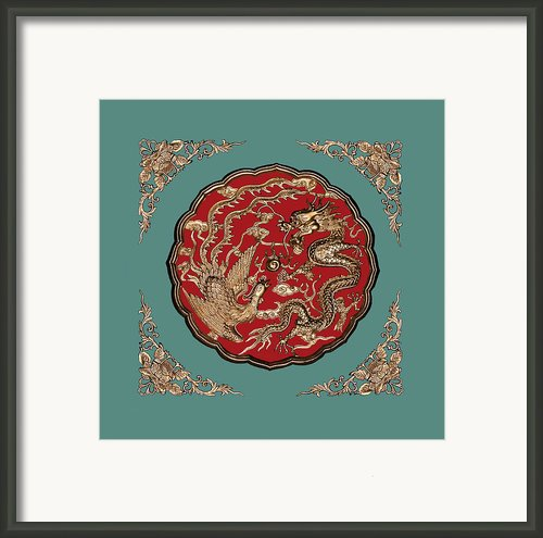 Dragon And Phoenix Framed Print By Kristin Elmquist