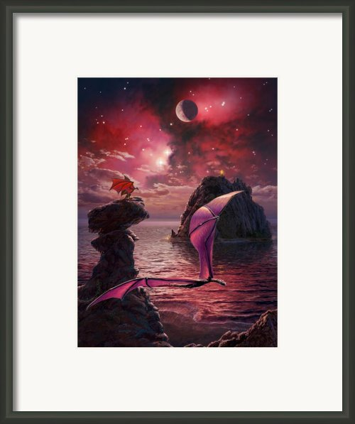 Dragons Of Arella Framed Print By Stu Shepherd