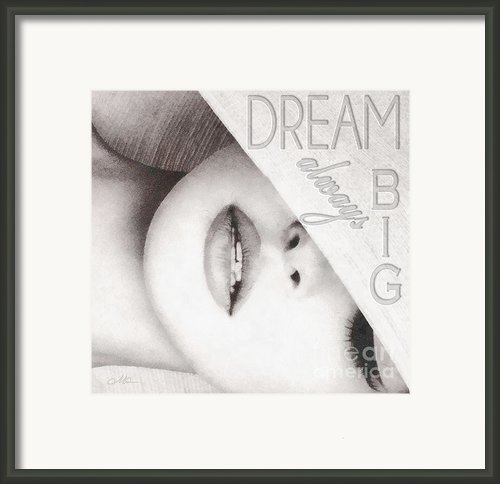 Dream Big Framed Print By Mo T