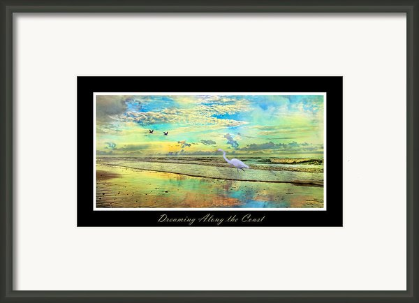 Dreaming Along The Coast -- Egret  Framed Print By Betsy A  Cutler