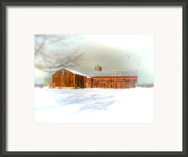 Dreams Of A White Christmas Framed Print By Mary Timman