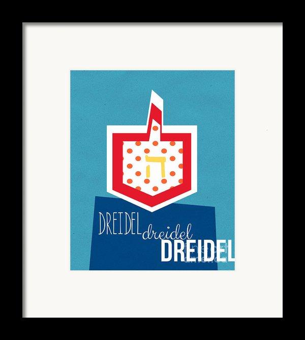 Dreidels Framed Print By Linda Woods