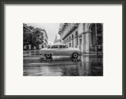 Driving In The Rain Framed Print By Erik Brede