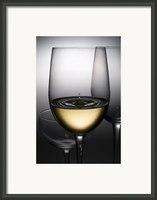 Drops Of Wine In Wine Glasses Framed Print By Setsiri Silapasuwanchai