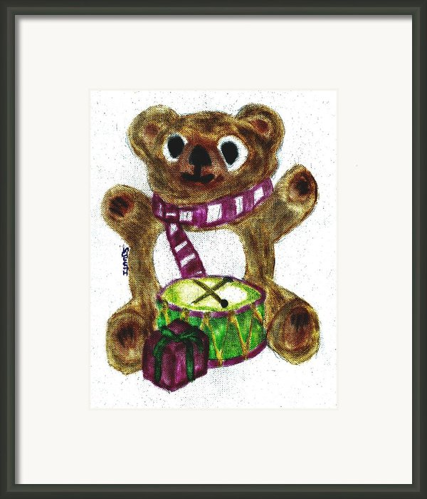 Drummer Teddy Framed Print By Shaunna Juuti