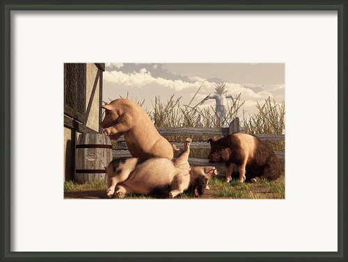 Drunken Pigs Framed Print By Daniel Eskridge