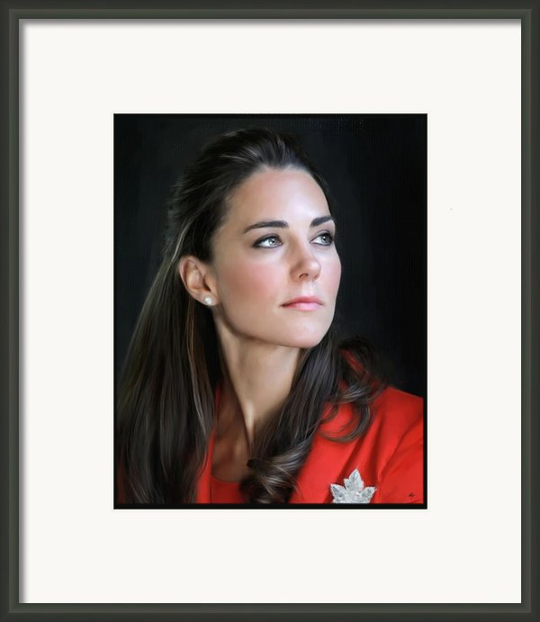 Duchess Of Cambridge Framed Print By Martin Bailey