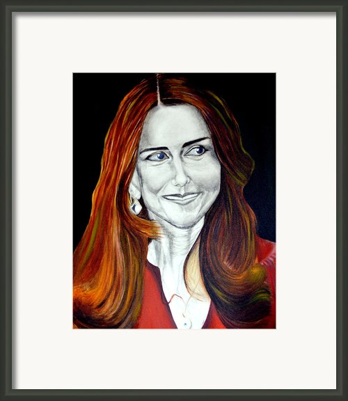 Duchess Of Cambridge Framed Print By Prasenjit Dhar