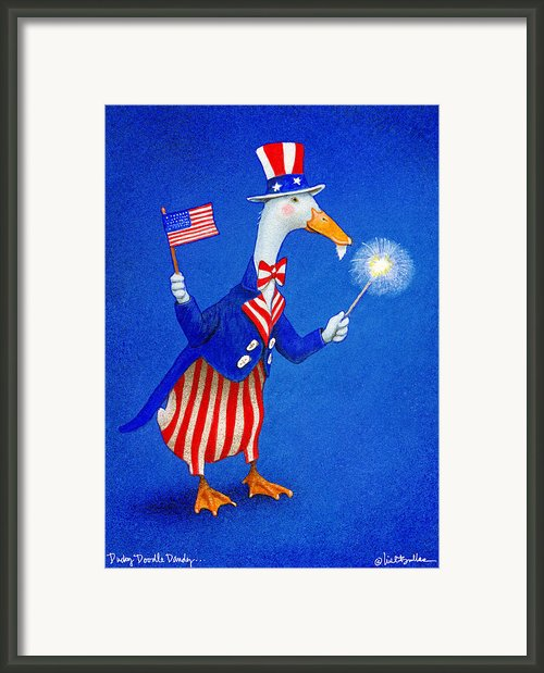 Ducky Doodle Dandy... Framed Print By Will Bullas