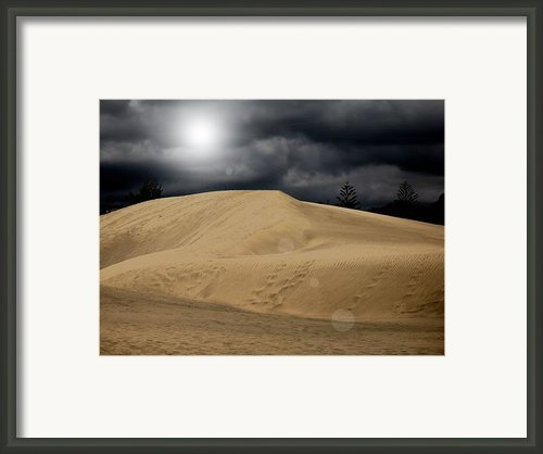 Dune Framed Print By Flow Fitzgerald
