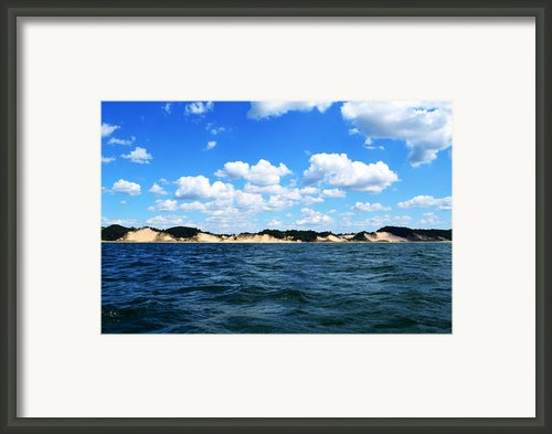 Dunes And Lake Michigan Framed Print By Michelle Calkins