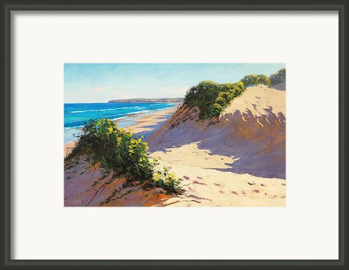 Dunes Central Coast Framed Print By Graham Gercken