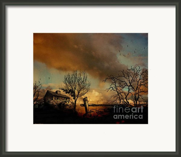 Dusk Framed Print By Cheryl Young