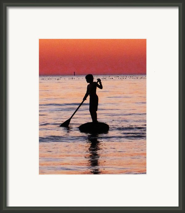 Dusk Float - Sunset Art Framed Print By Sharon Cummings