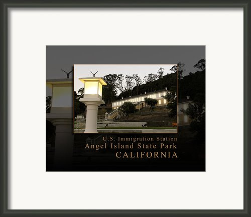 Dusk In China Cove - Usis - United States Immigration Station Angel Island State Park California Framed Print By David Rigg