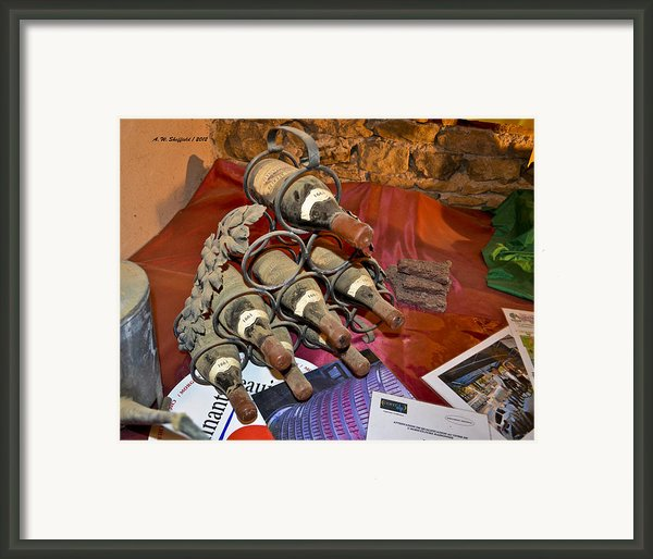 Dust Covered Wine Bottles Framed Print By Allen Sheffield