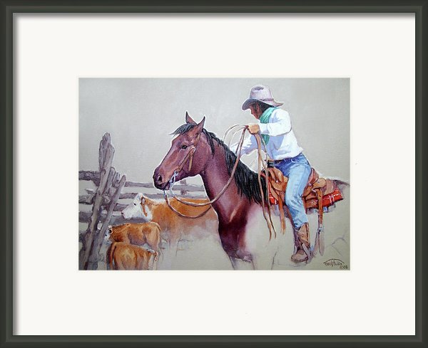 Dusty Work Framed Print By Randy Follis