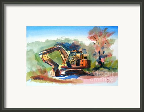 Duty Dozer Framed Print By Kip Devore