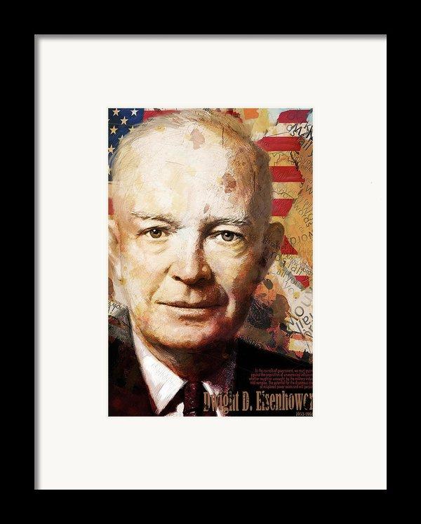 Dwight D. Eisenhower Framed Print By Corporate Art Task Force