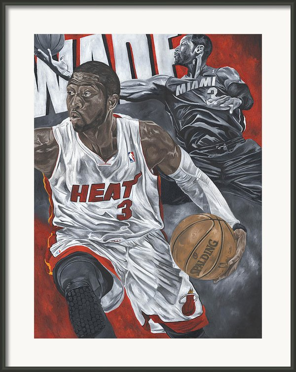 Dwyane Wade Framed Print By David Courson