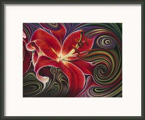 Dynamic Red Framed Print By Ricardo Chavez-mendez